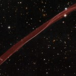 Red ribbon in Space