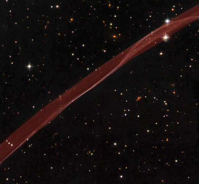 A very thin section of a supernova remnant