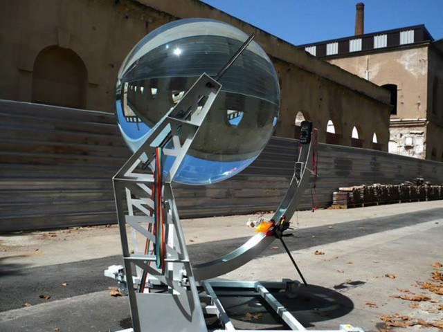 Spherical glass lens Solar Energy