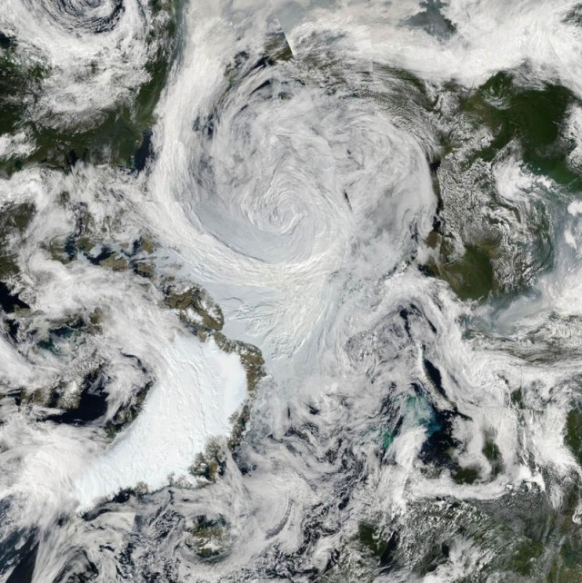 Summer Storm over Arctic by MODIS on NASA's Aqua satellite