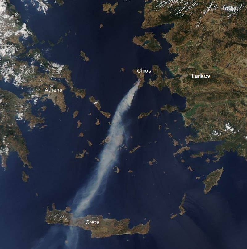Wildfire on Chios