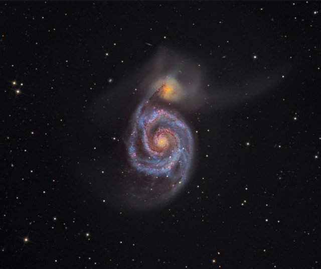 M51 - The Whirlpool Galaxy by Martin Pugh