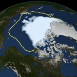 Arctic ice reaches record low