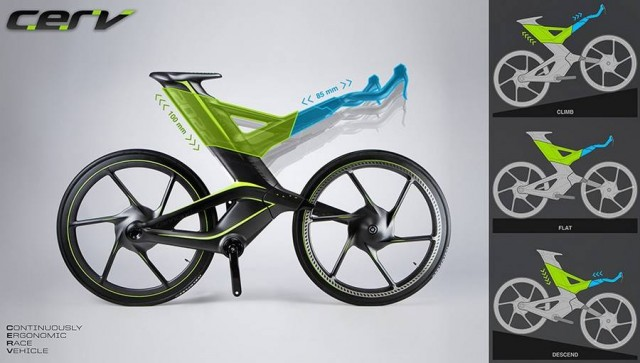 CERV concept bike adjusts to different terrain