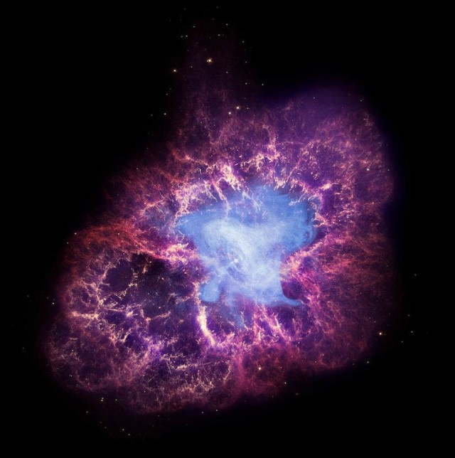 Composite image of the Crab Nebula
