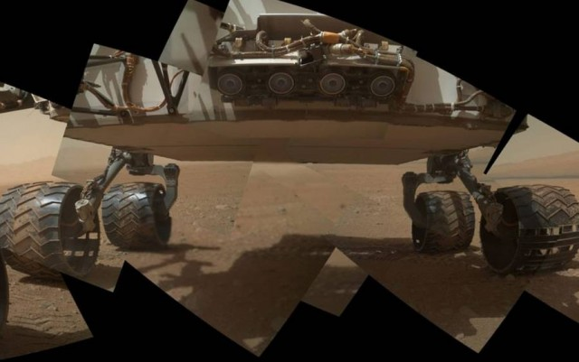 Curiosity's underside self-portrait