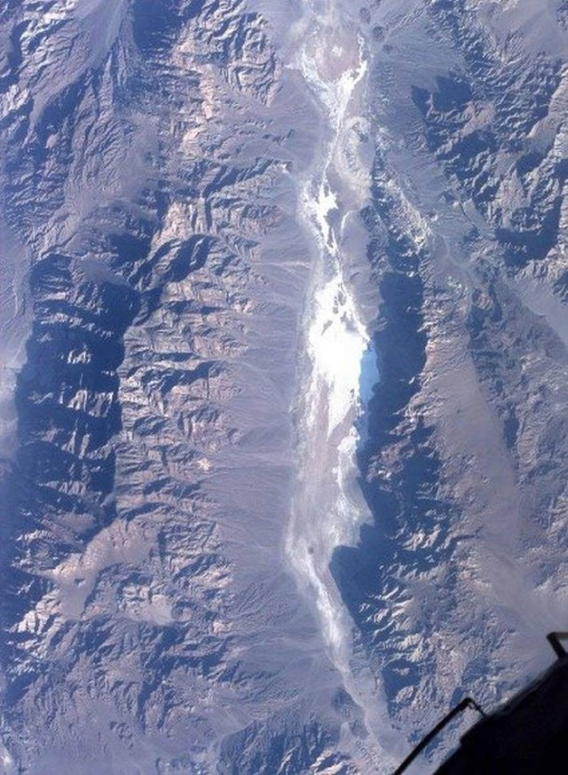 Satellite photo of Death Valley