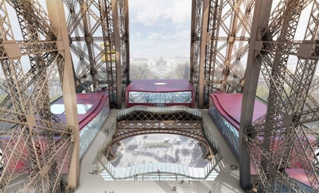 Eiffel Tower pavilions by Moatti-Riviere architecture studio