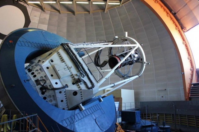 The dark energy camera mounted on the Blanco telescope in Chile