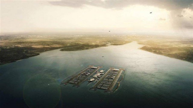 Floating London Airport by Gensler