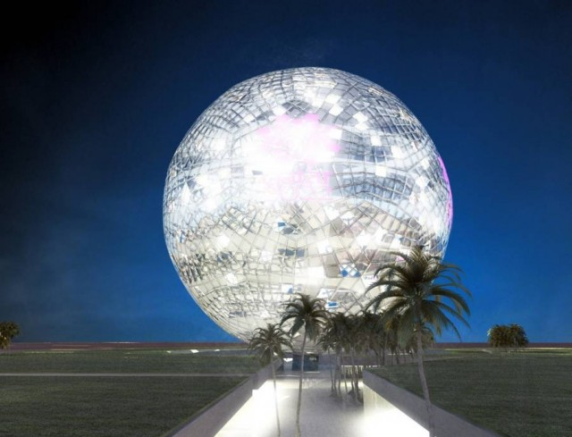 Huge Crystal Ball for Qatar's World Cup