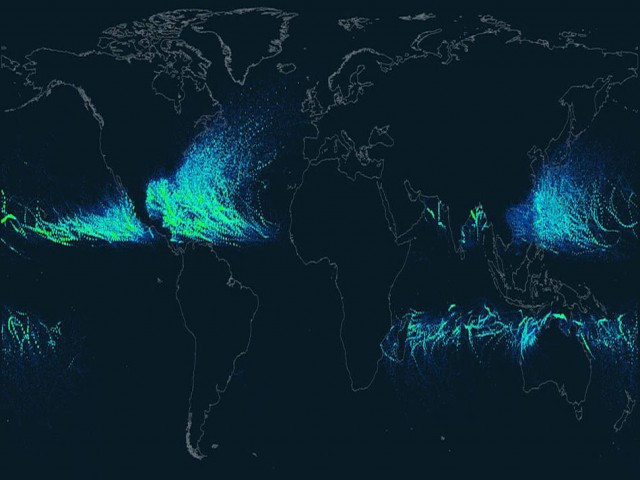 Hurricanes Paths since 1851