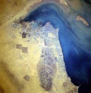 Kuwait City from space