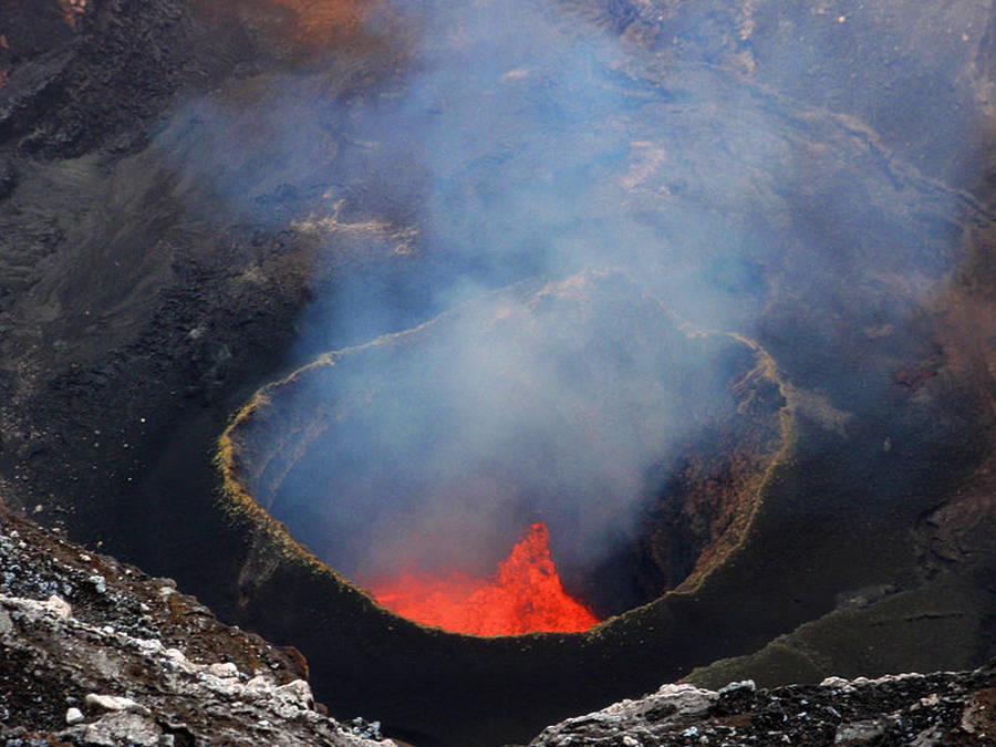 Marum Volcano's famed lava lake on Ambrym Island, Vanuatu