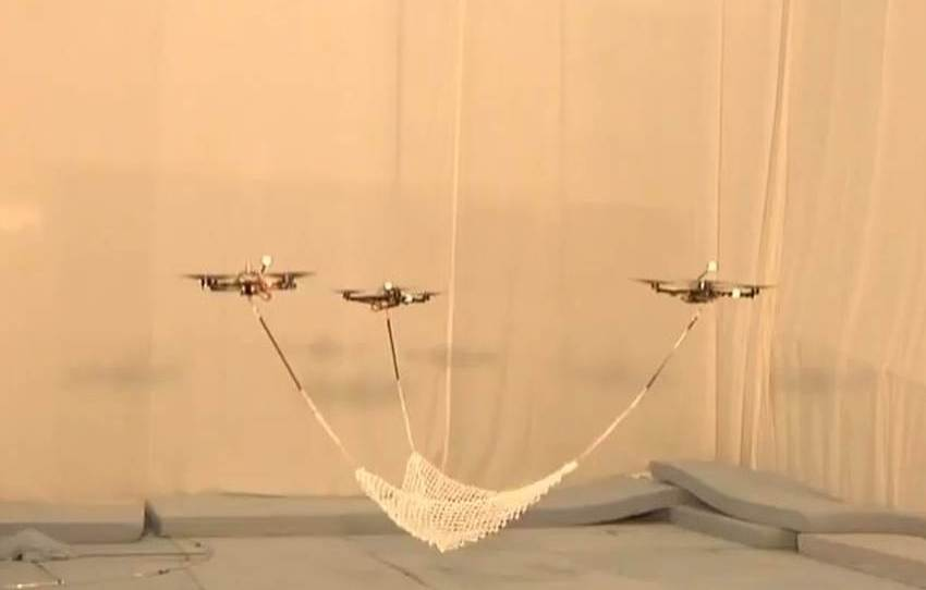 Quadrocopters Ball Throwing and Catching