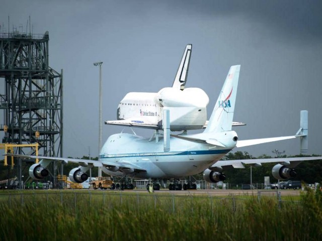 Space Shuttle Endeavour atop NASA's Shuttle Carrier Aircraft