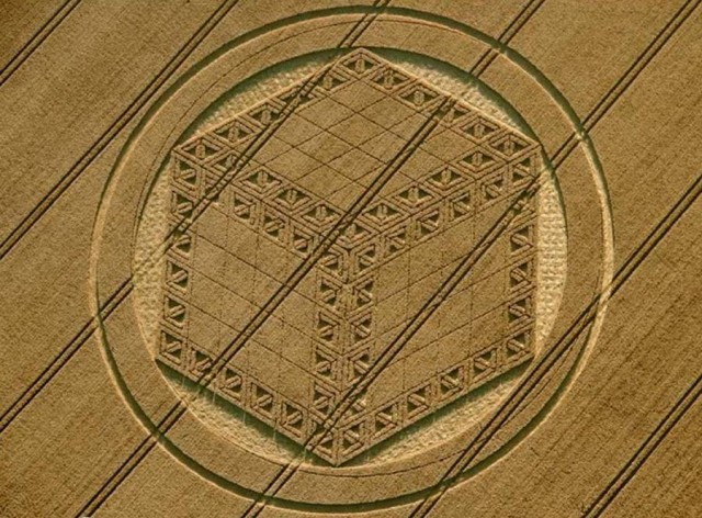 Spectacular Crop Circle at Hackpen Hill