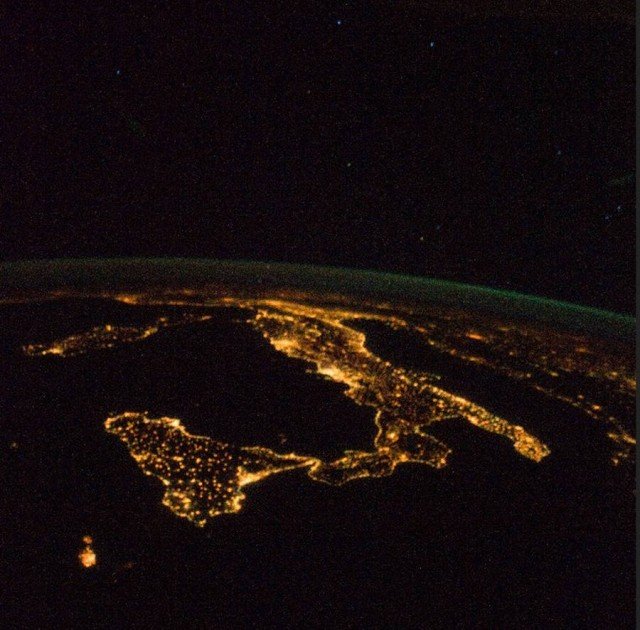 The Italian Boot from ISS