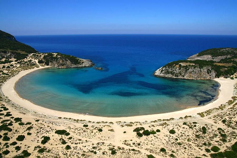 Voidokilia Beach in Messinia