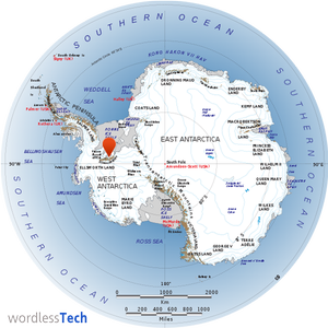 Antarctica's Tallest Peak- map