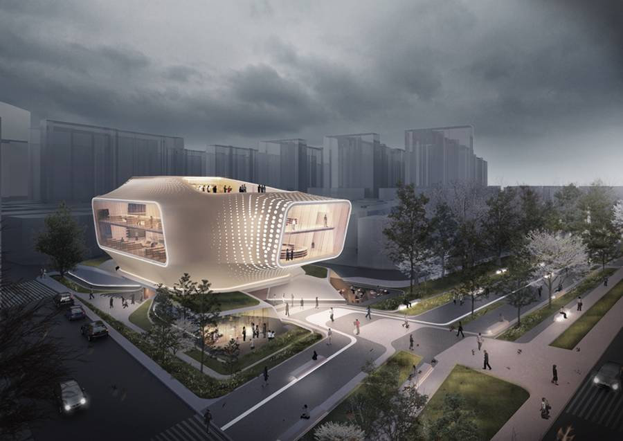 Daegu gosan public library by dia studio wordlesstech for Living room channel 10 competition