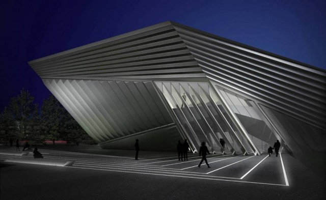 Eli and Edythe Broad Art Museum by Zaha Hadid (4)