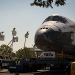 Endeavour through the streets of L.A. [video]