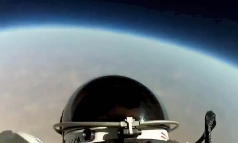 Felix Baumgartner's Space Jump First Head Cam Video