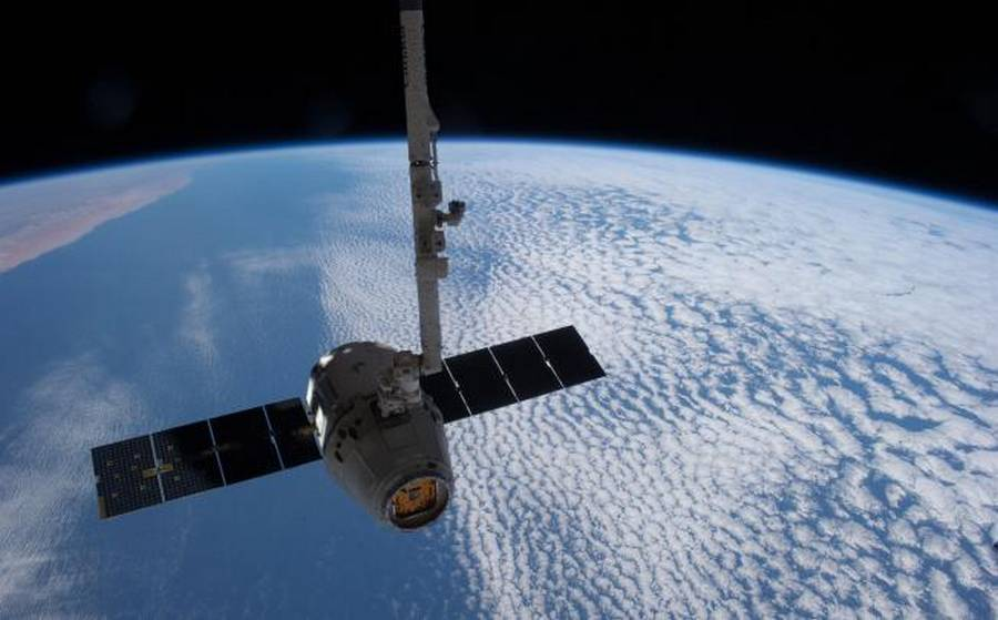 Dragon docked at Space Station