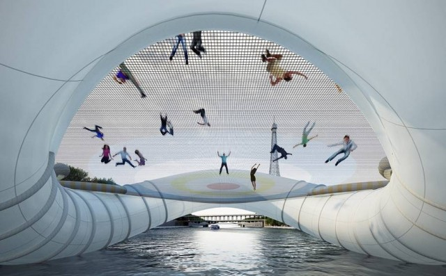 Giant Inflatable Trampoline Bridge by AZC (3)