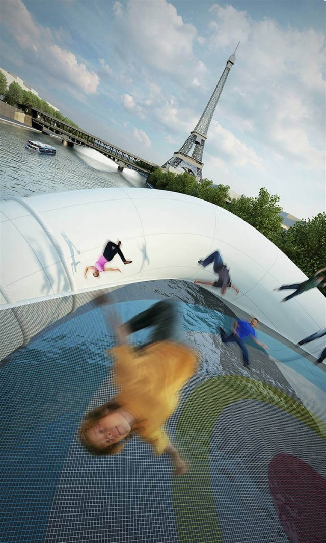Giant Inflatable Trampoline Bridge by AZC (2)