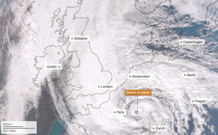 How Hurricane Sandy compares to Europe