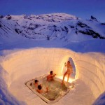 Igloo outdoor jacuzzi