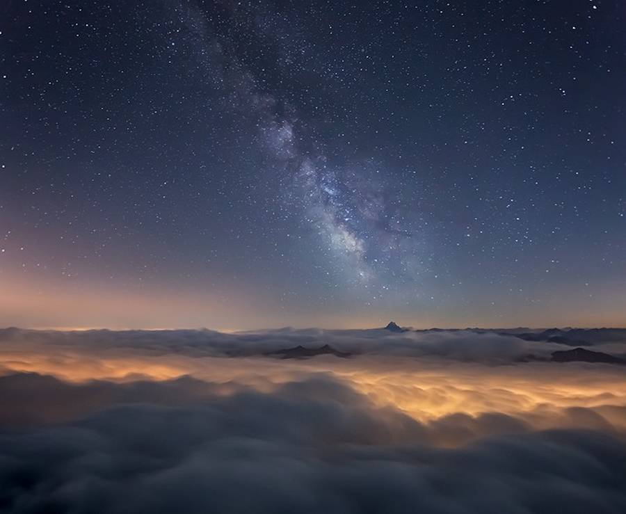 Milky Way Above Italian Alps