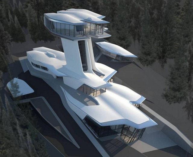 Naomi Campbell's Spaceship by Zaha Hadid