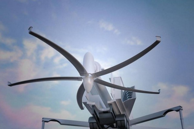 Portable 50kW wind turbine