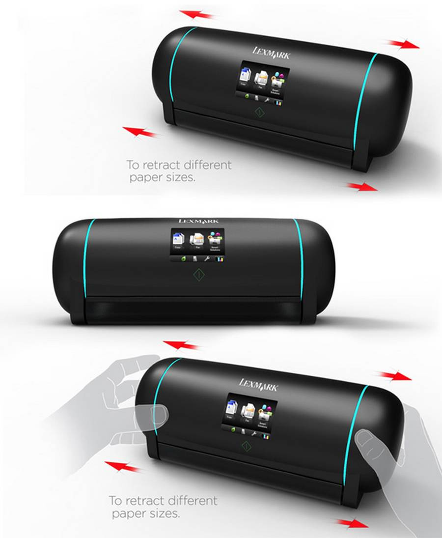 Retractable Printer Concept