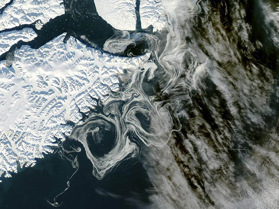 Sea Ice off Eastern Greenland