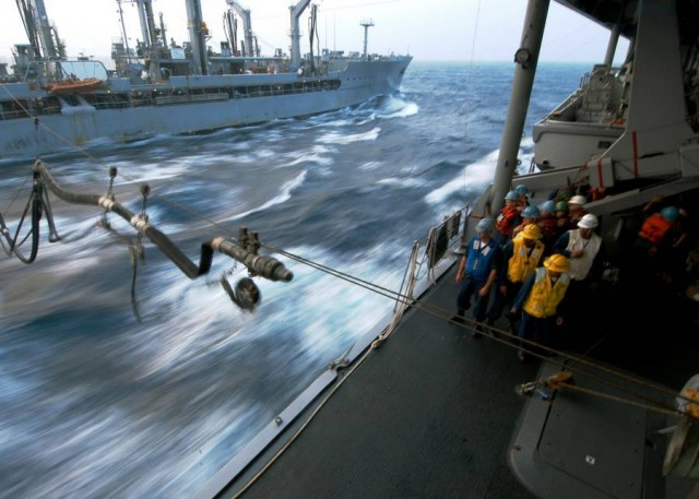 Refueling- Attaching a fueling probe while underway