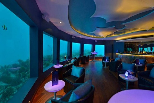 Underwater bar, Maldives