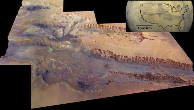 Valles Marineris in Mars