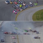 Watch NASCAR last-lap crash at Talladega