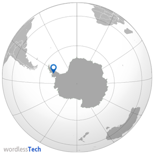 Antarctic Peninsula -world map