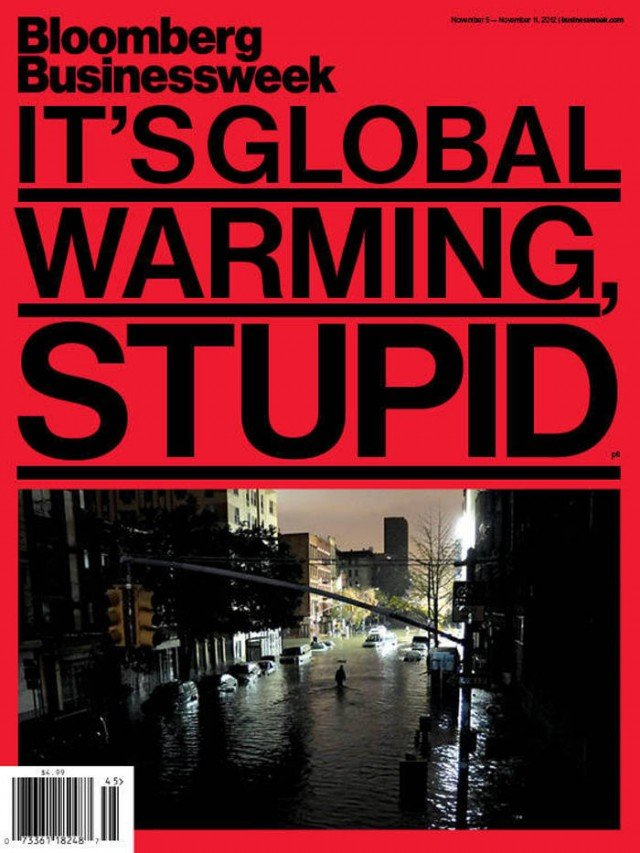 Bloomberg BusinessWeek cover- It's Global Warming, Stupid