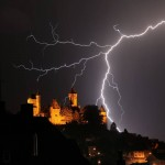 Lightning over Braunfels, Germany