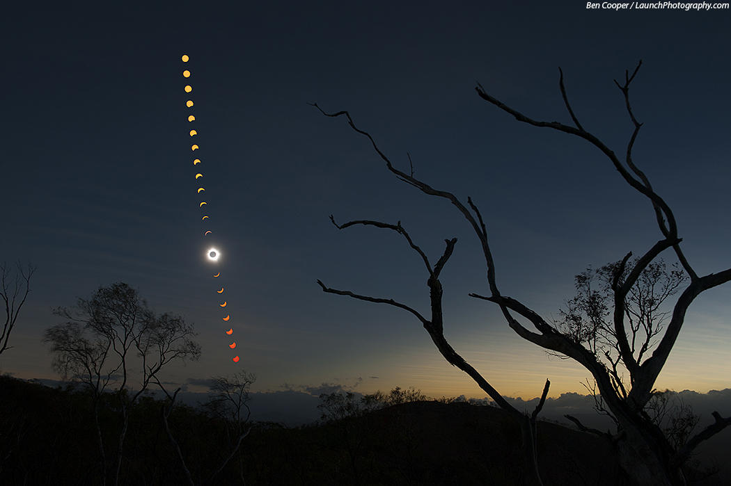 Moon Shadow Sequence in Australia