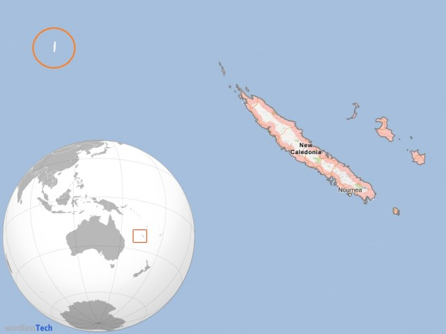 Sandy ghost island in the Pacific