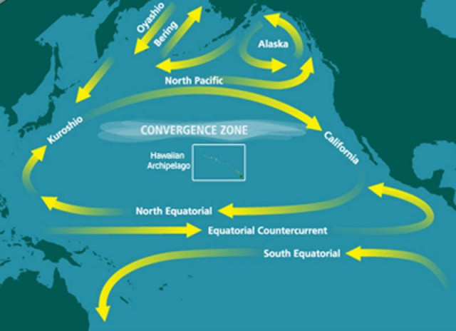 Great Pacific Garbage Patch -map