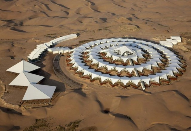 Prefabricated Lotus Hotel by PLaT Architects