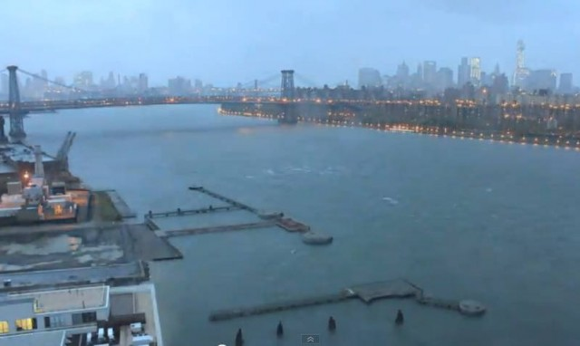 Hurricane Sandy time-lapse